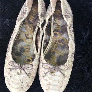 Sam Edelman Flats Size 8 1/2 Leather Upper Felicia